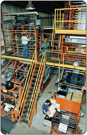 Hudson Poly Extrusion Operation for quality poly bags